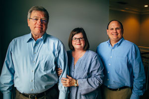 Meet our leadership team. From left, Frank McFadden, P.E., Founder and President; Hope McFadden, Founder and CFO; Brad Newton, P.E., Vice President and Senior Engineer.